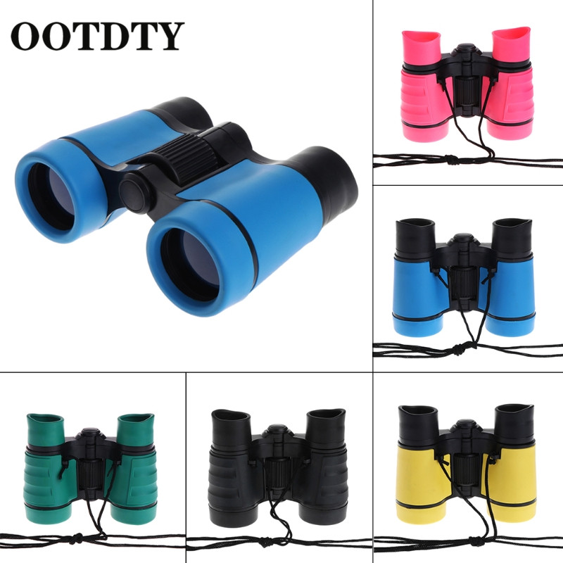 OOTDTY 4x30 Plastic Children Binoculars Telescope For Kids Outdoor Games Toys Compact Children Binoculars in Monocular Binoculars from Sports Entertainment