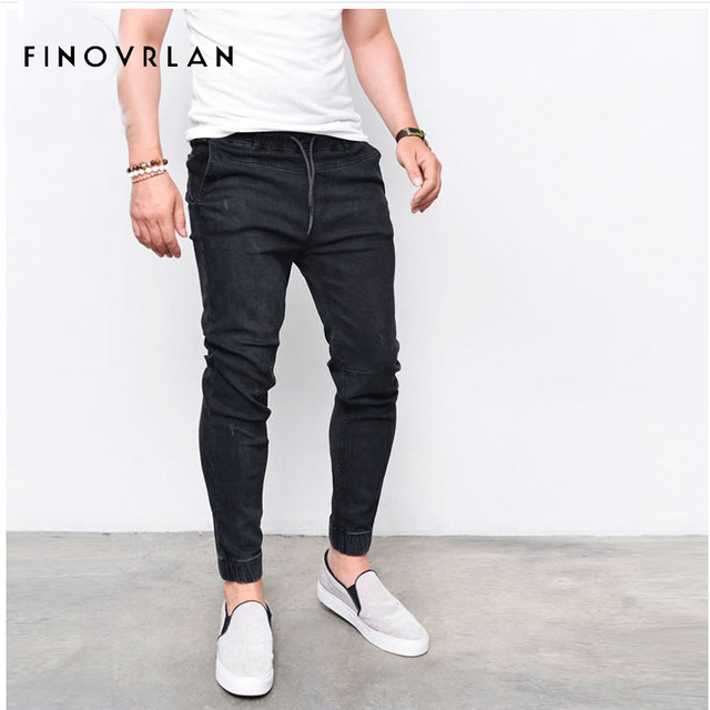Homme Occasionnels Plus Long Jeans Pantalon Denim Skinny Lâche vavZn6