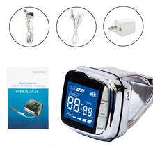 New CE 650nm Laser Therapy Watch Physiotherapy Wrist Diode LLLT for Diabetes Hypertension Treatment Diabetic With Box