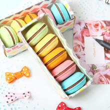5 Pcs/Lot Novelty Macaron Rubber Eraser Creative Kawaii Stationery School Supplies Papelaria Gift For Kids japan iwako puzzle eraser set novelty dessert animal toy collection perfect gift creative stationery