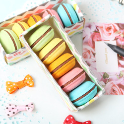 5 PCS/Lot Novelty Macaron Rubber Eraser Creative Kawaii Stationery School Supplies Papelaria Gift For Kids