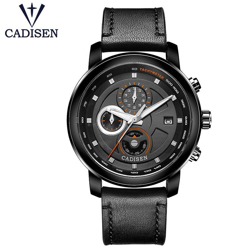 310e8e4bc92a Mens Relojes de cuarzo Cuero auténtico manera caliente Militar deportes  lujo marca Relogio masculino 2018 reloj nuevo estilo