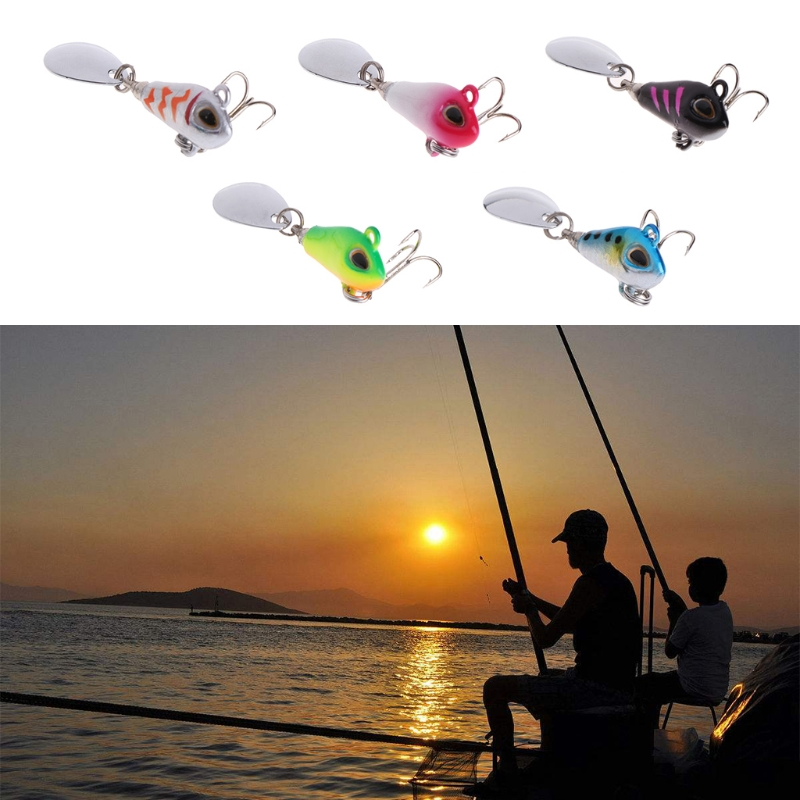 Fishing Bait VIB Hard Lure 6g2cm Spinner Sequin Spoon Crankbait Tackle Casting