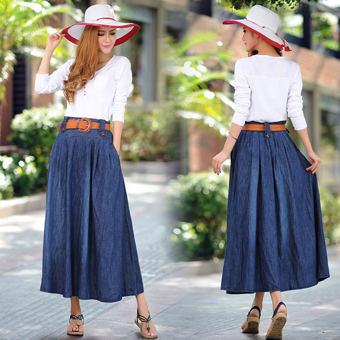 Compare Prices on Long Denim Skirt- Online Shopping/Buy Low Price ...
