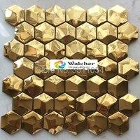 High quality sheet size 12x12, stainless steel metal mosaic tiles wall tiles kitchen backsplash