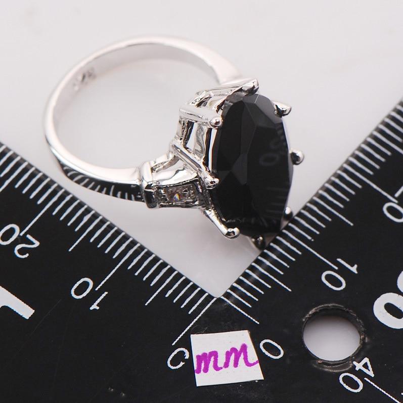 Black Onyx Women 925 Sterling Silver Ring F738 Size 6 7 8 9 10