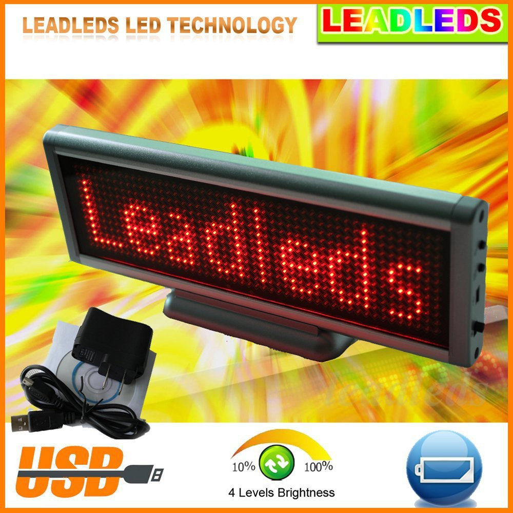 Scrolling LED sign Desk Board rechargeable+programmed message scrolling display screen 16*64 DotsScrolling LED sign Desk Board rechargeable+programmed message scrolling display screen 16*64 Dots