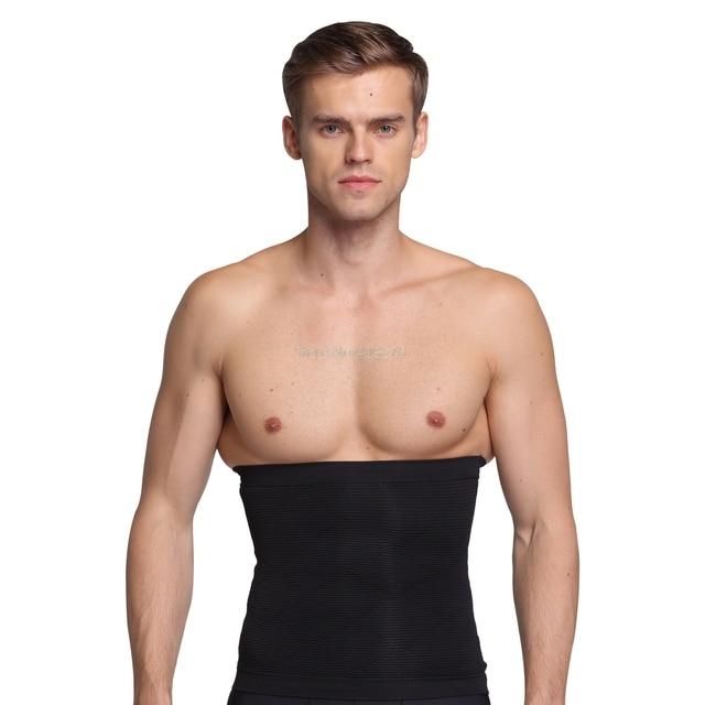 PRAYGER New Men Slimming Belly Shaper Belt Control Waist Tummy Trimmer Corset Seamless Boneless Body Shaper Girdle 3