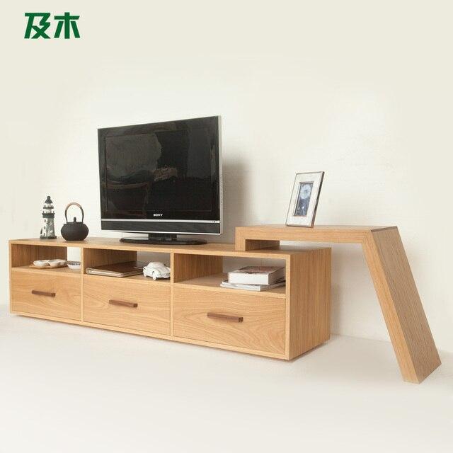 Wooden Furniture And Creative Fashion Minimalist Scandinavian Modern Design Wood Veneer TV Cabinet DG003