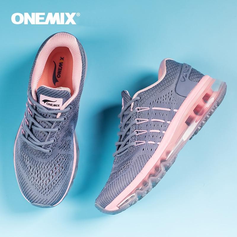 ONEMIX 2019 Women Running Shoes Mesh Unique Tongue Sneakers Black Breathable Sports Shoes Jogging Walking Shoes