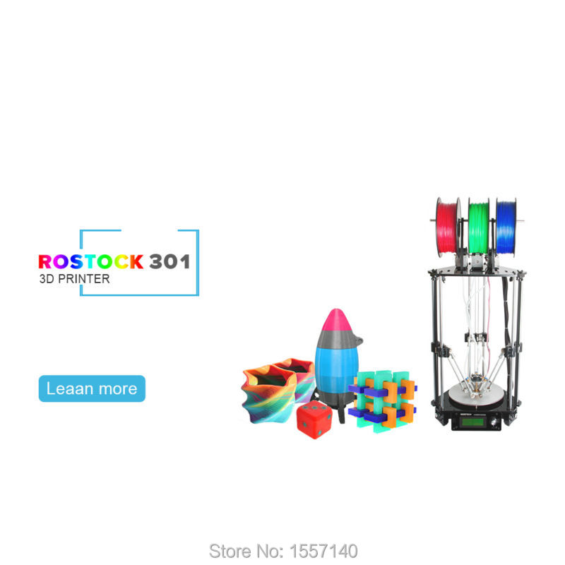 купить 10 PCS Latest Delta Rostock 3D Printer DIT Kit 3-in-1-out Mix Color 3D Printing Hotend LCD 2004 недорого
