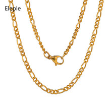 Eleple Stainless Steel Necklace for Women or Men Clavicle Chain Fashion Simple Jewelry Manufacturers 3mm*60cm S-PJL04-02-3/60