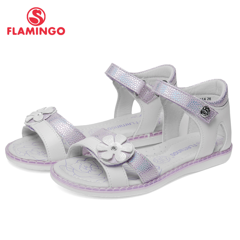 QWEST Summer Breathable Hook& Loop Sandals Orthotic Arch Support Outdoor Size 27-32 Children shoes for Girl 91S-HL-1414 summer rhinestone thick heels women sandals shoes sexy open toe wedge shoes woman high heels sandals platform