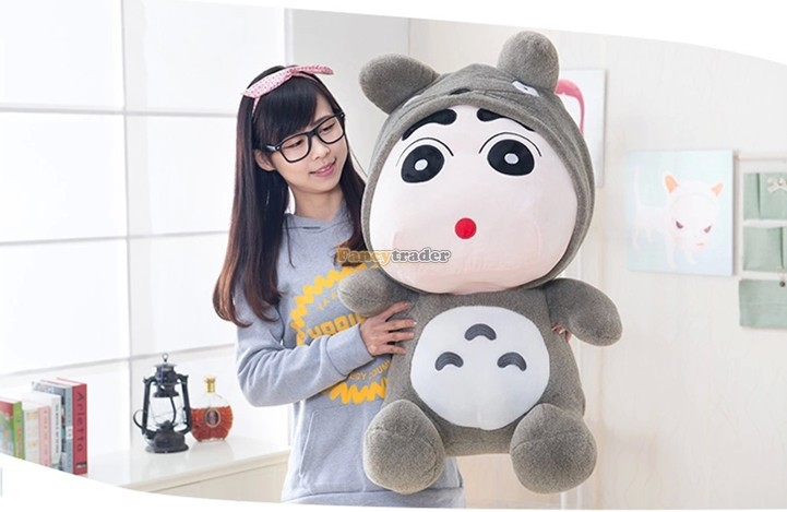 Fancytrader Fashion High Quality Kawaii Toy 30'' 78cm Giant Plush Stuffed Totoro or Panda Nowara Shinnosuke, 2 Models! FT90487 2pcs 12 30cm plush toy stuffed toy super quality soar goofy