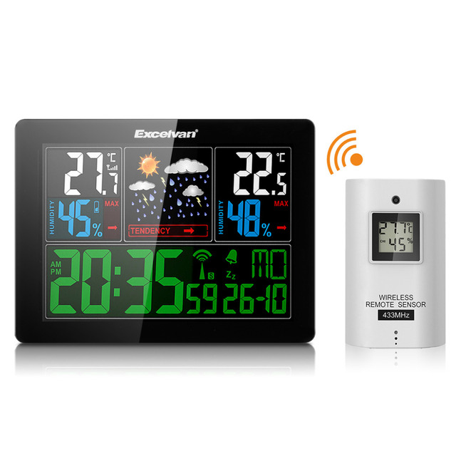Aliexpress Com Buy Excelvan Cl720 Full Hd Home Theater: Aliexpress.com : Buy EXCELVAN COLOR Wireless Weather