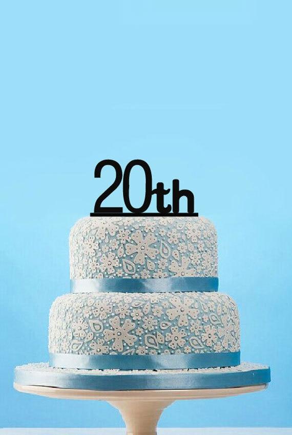 Custom 20th Cake Topper Romantic Cake Topper For Teen Acrylic