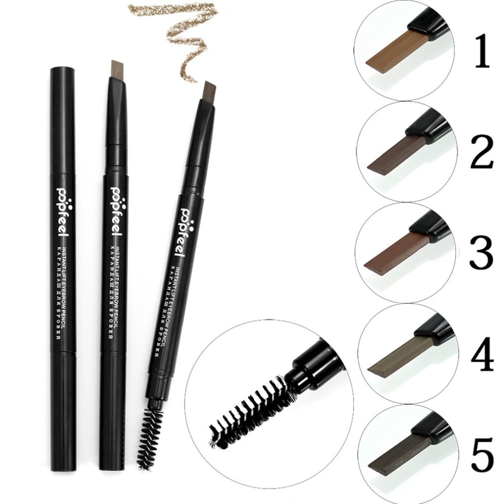 Double Head Automatic Eyebrow Pencils Waterproof Long Lasting Brown Pigments Eyebrow Tattoo 5 Color Makeup Eye Brow Pen Cosmetic