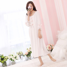 2017 summer palace wind lace princess sweet cute loose long skirt