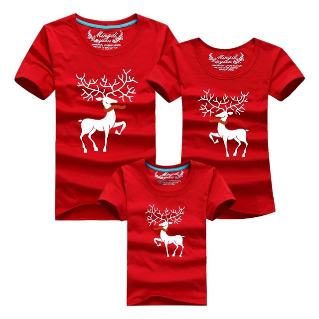 family look christmas family matching outfits t shirt more color milu deer matching family clothes