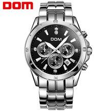 Dom multifuncionales mens relojes chapa de acero luminosa timep deportes impermeables ocasionales reloj masculino M-510