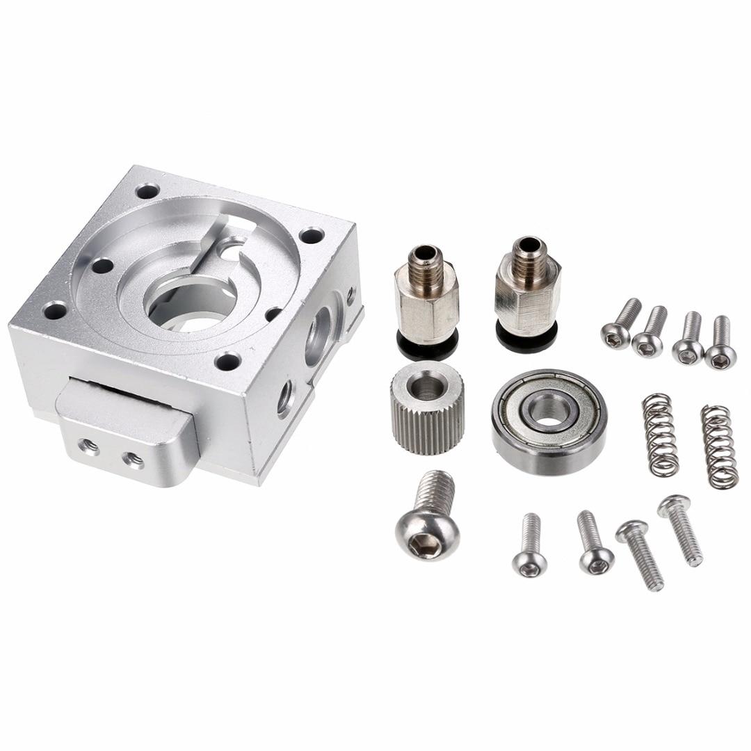 1 Set Alle Metalen Bulldog Extruders 1.75mm Filament Diy Extruder Universele 3d Printer Onderdelen Compatibel Met E3d J-hoofd Mk8