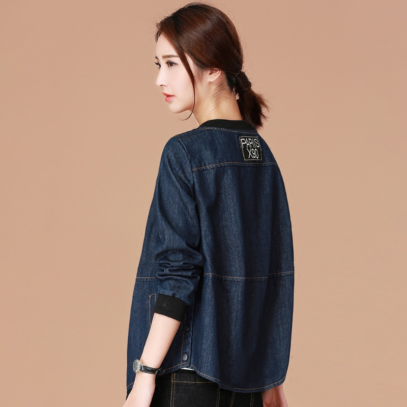 Denim   Jacket   Women Jeans   Basic     Jacket   Coat Hooded Outwear Slim Short Warm Overcoats Jeans Denim Female Coats &   Jackets