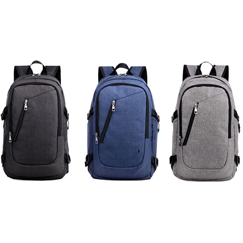 3 Colors Men Women Business Water Resistant 17 Inch Laptop Backpack with USB Charging Port Campus School Bags BS88