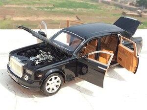 Image 3 - גבוהה סימולציה 1:24 רולס רויס פנטום התארך Cohes Diecast סגסוגת רכב מצב עם שש דלת לילדים מתנת צעצוע אוסף