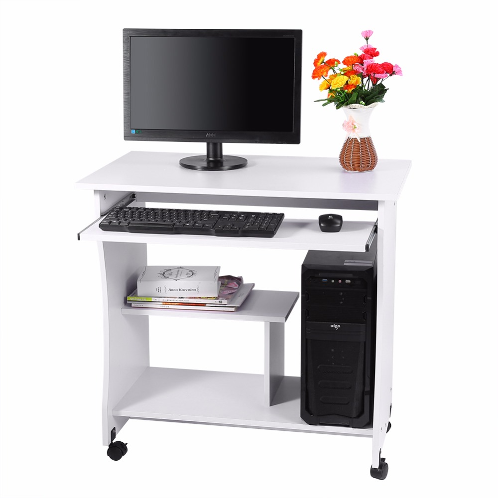 home office computer desk laptop pc laptop table study corner desk wheels roll workstation furniture cheap office workstations