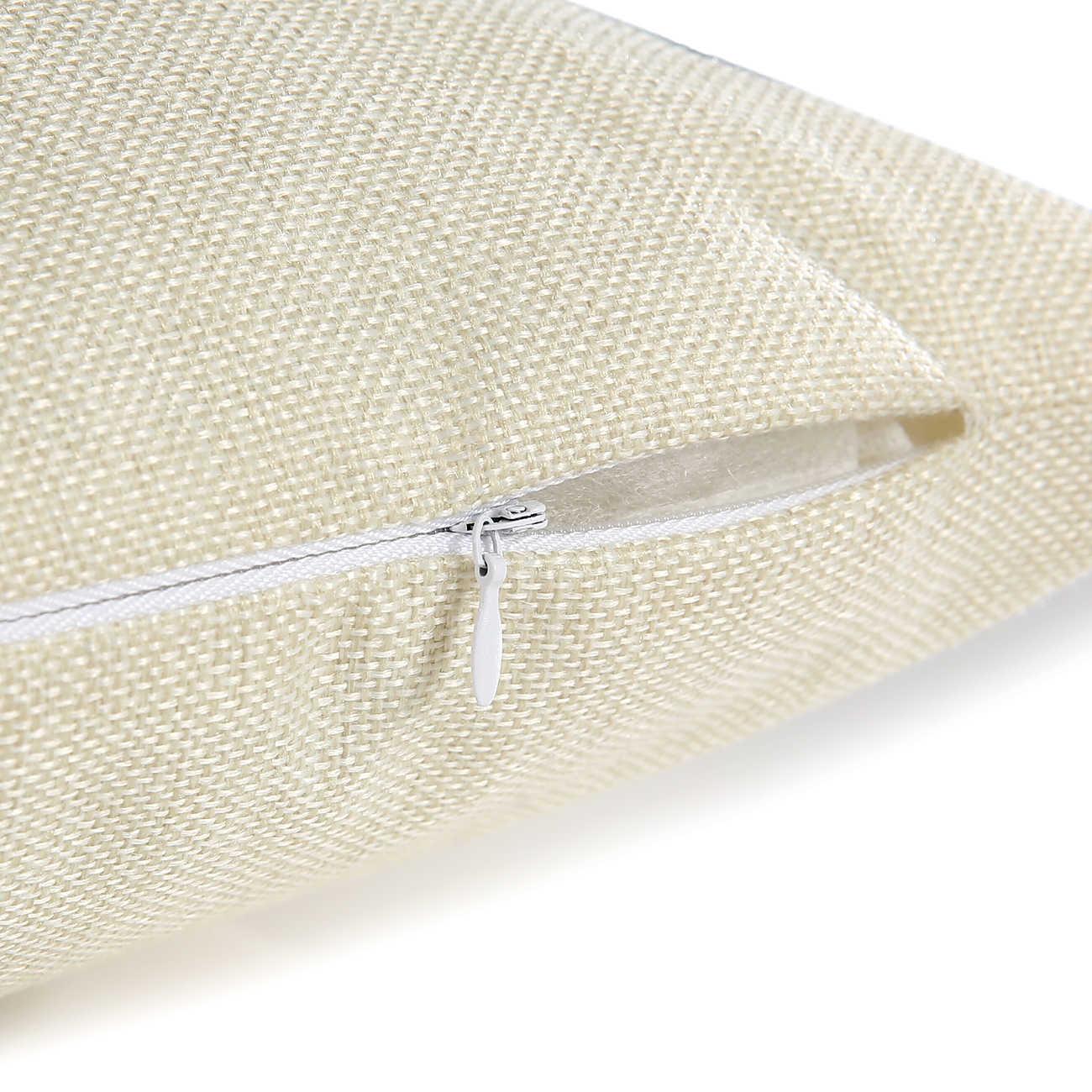 Wzh preto branco estilo moderno capa de almofada 45x45cm linho decorativo fronha sofá cama fronha