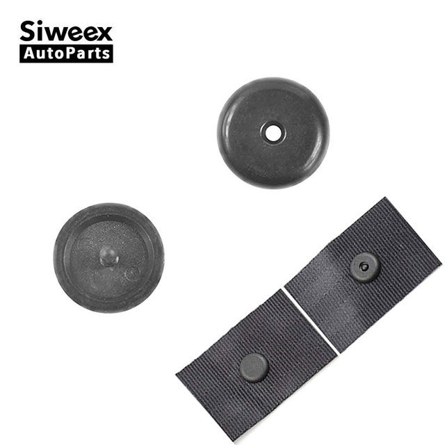 Car Seat Belt Stop Button Safety Stopper Spacing Limit Buckle Clip Retainer Removable without Welding Black Plastic Universal
