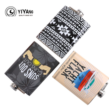 Portable 8oz Stainless Steel Hip Flask Liquor Whisky Alcohol Drinkware Hot Sale Flagon High Quality Wine Bottle For Gifts