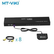 купить Mt-Viki 8 Port Smart VGA KVM switch With desktop controller Multiple hosts share a display MT-801UK-L дешево