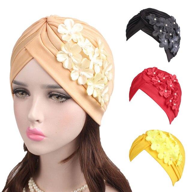 76df052e65c FEITONG winter hats for women cotton free Women Ladies Boho Cancer Hat  Beanie Scarf Turban Head Wrap Cap winter hats for womens