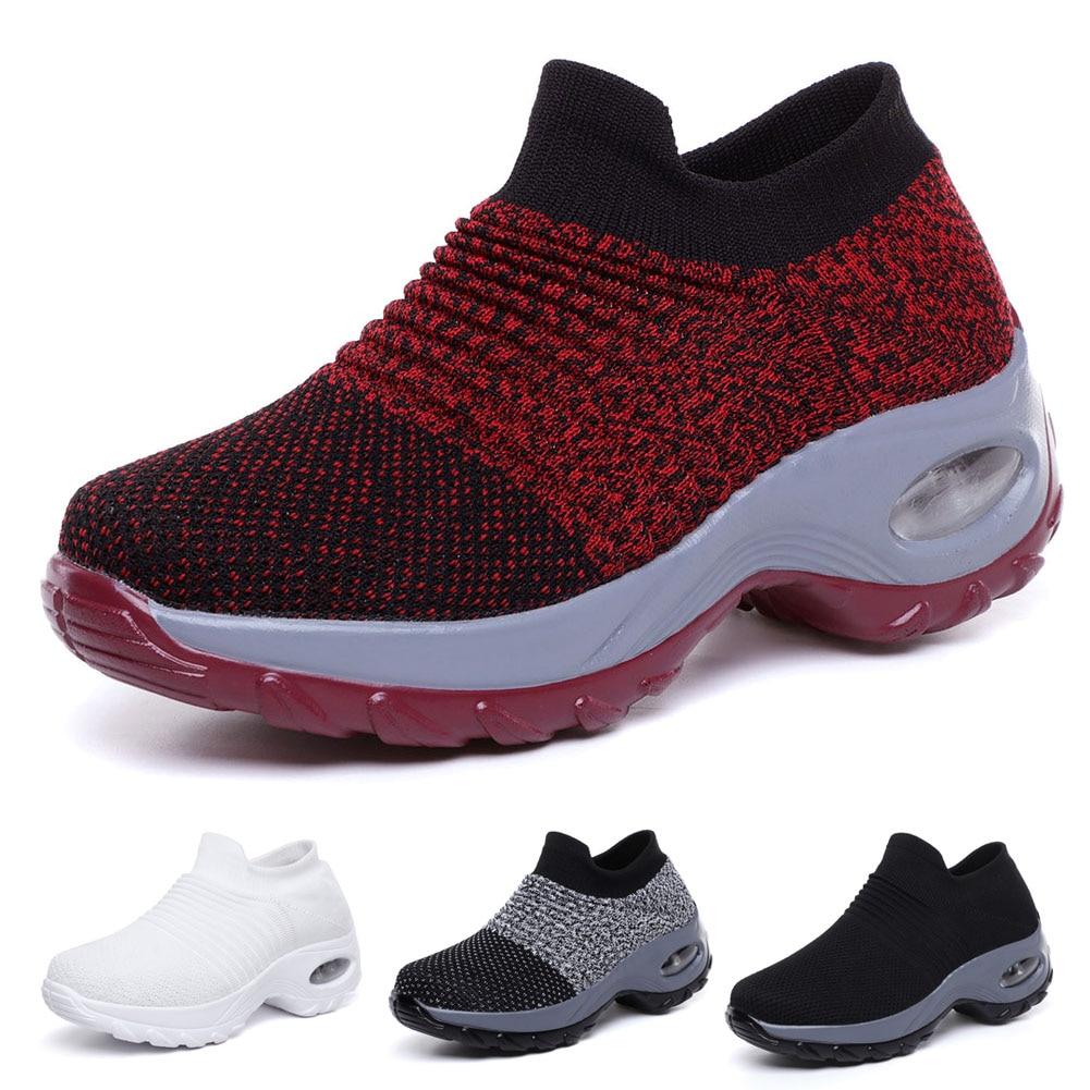 Women Slip On Mesh Walking Shoes Air Cushion Comfortable Platform Working Sneakers YS-BUYWomen Slip On Mesh Walking Shoes Air Cushion Comfortable Platform Working Sneakers YS-BUY