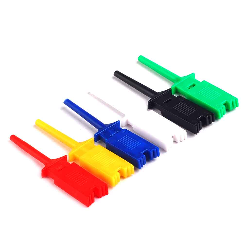 24PCS Test Hooks Clips for Logic Analyzers Logic Test Cli Each Color 4PCS