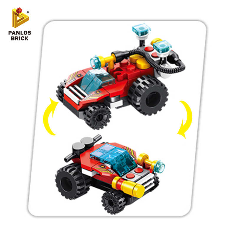 Building Blocks Fire Brigade City Building Bricks Truck Fire Car Police Helicopter Motorboat Warplane Stacking Toys Gift For Kid