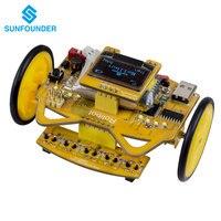 SunFounder RollbotMicro STEM Learning Educational DIY Robotics Kit GUI-Mixly for Arduino Beginner Infrared Sensor OLED Module
