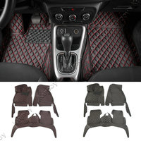 3pcs Black Red Interior Accessories Floor Mats Carpets Foot Pads Kit For Jeep Compass 2017 Car