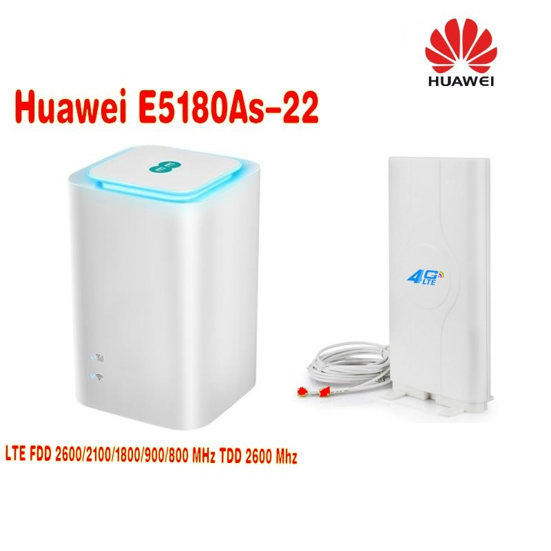 Huawei Cube e5180 4G cpe wifi router E5180As-22 Band 1/3/7/8/20/38 +4g 49dbi TS9 antenna