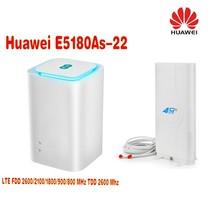 Huawei Cube e5180 4G cpe wifi router E5180As-22 Band 1/3/7/8/20/38  +4g 49dbi TS9 antenna