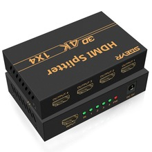 SGEYR 1.4v HDMI Splitter1X4,4Kx2K 4 Way Splitter 1 input output,Support 1.4,HDCP,4Kx2K,3D&1080P For HDTV Projector