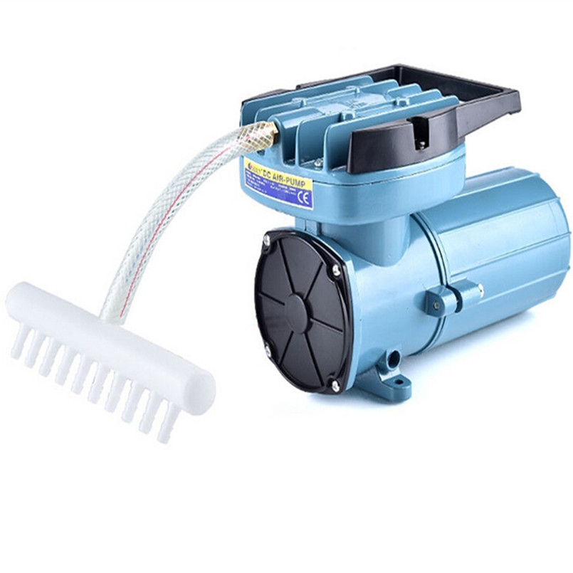 DC24V 115L/Min Air pump, oil free aquarium pump accessories, air compressor manka care 110v 220v ac 50l min 165w small electric piston vacuum pump silent pumps oil less oil free compressing pump