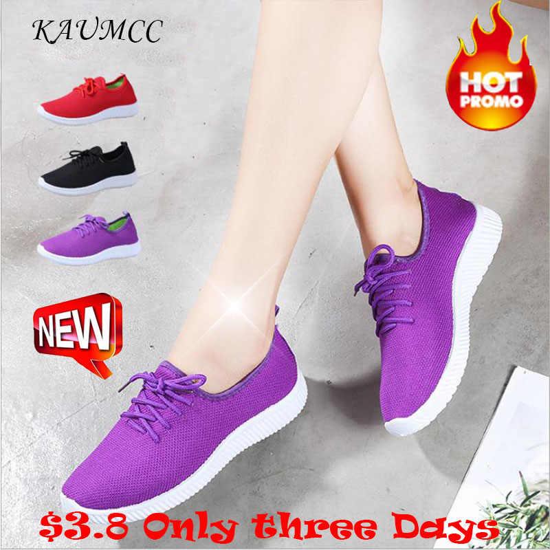 2019 ใหม่ Kamucc ผู้หญิงรองเท้าผ้าใบกลางแจ้งรองเท้าวิ่งกีฬารองเท้าตาข่ายรองเท้าสบายๆด้านล่าง Breathable เมาส์ไร้สาย