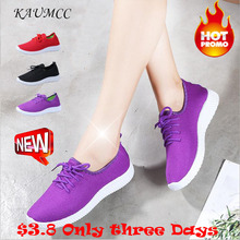 2019 New Kamucc Women Sneakers Outdoor Running Shoes Sports Mesh Light Bottom Casual Breathable Lightable