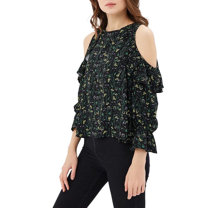 Blouses & Shirts MODIS M181W00372 woman blouse shirt blusas for female TmallFS женская футболка waqia 2015 t cueca blusas femininas 4