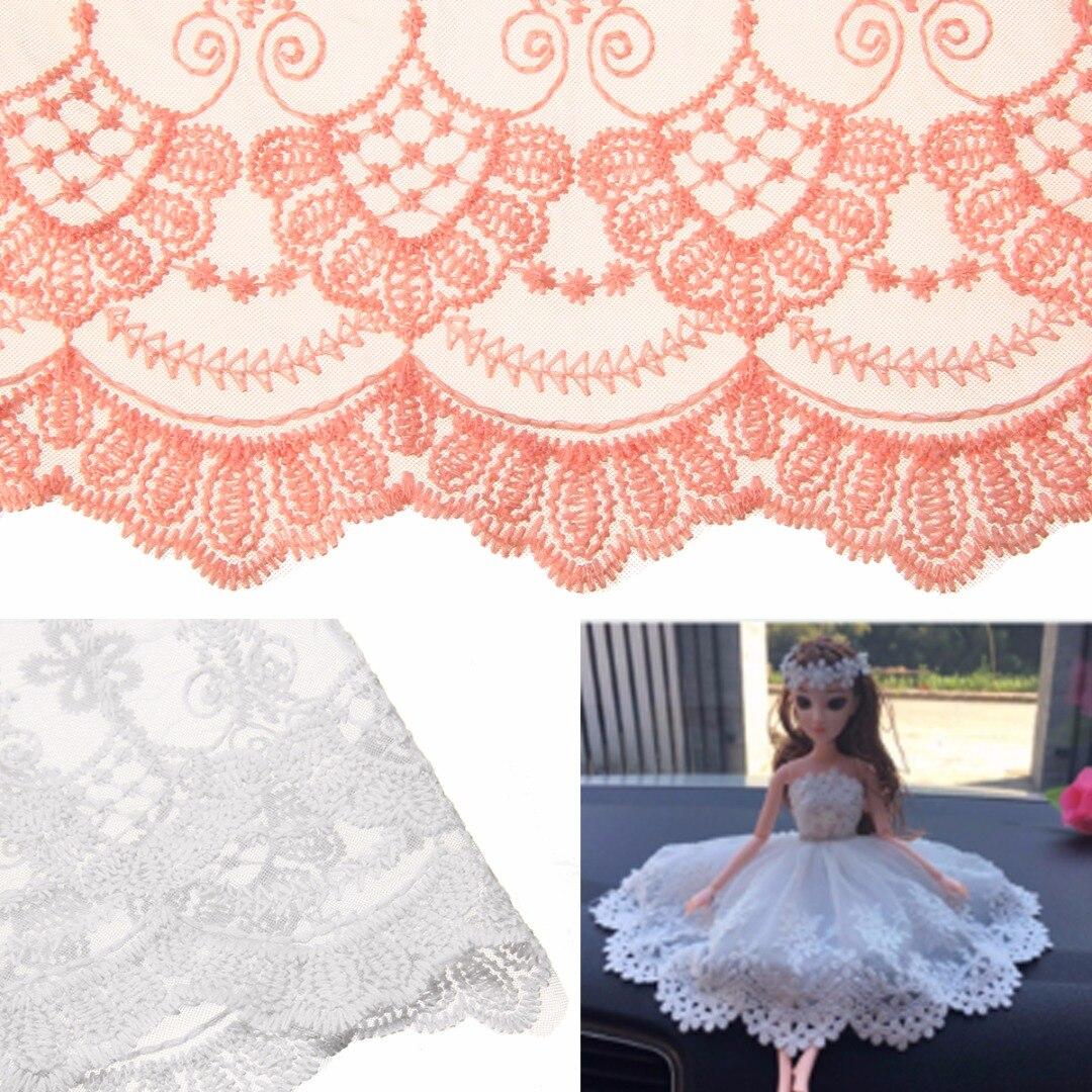 Beautiful stylish embroidered patern lace triming ribon dress making craft 1Yard