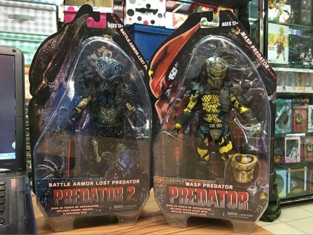 """NECA Predators 2 Battle Armor Perdido Predator Wasp Predator Acción PVC Figura de Colección Modelo de Juguete 7 """"18 cm KT2216"""