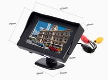 HD 4.3″ LCD car Mirror Monitor parking sensor DVD/VCD/GPS/TV Screen with waterproof General car rear view Camera Night Vision