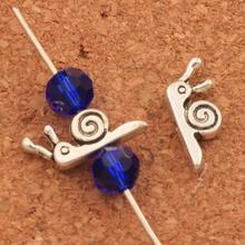 Snails Animal Loose Beads 14.8x6.3mm 92PCS Tibetan Silver Spacers Jewelry Findings L803